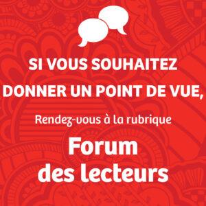 Forum des lecteurs